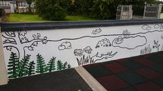 In the pre-school where I work, there is a great big yard. School Murals, Play Soccer, Run Around, Pre School, Blogging, Yard, Outdoor, Outdoors, Patio