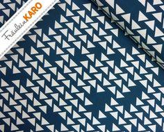 Stoff grafische Muster - Baumwoll Jersey *Dreiecke* Ökotex - ein Designerstück von Fraeulein-Karo bei DaWanda