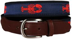 Belted Cow Company - Lobster Leather Tab (navy) - also available in dog collar and lead and flip flops!