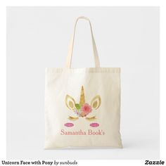 Shop Unicorn Face with Pony Tote Bag created by sunbuds. Black Unicorn, Unicorn Face, Unique Gifts, Great Gifts, Best Tote Bags, Budget Fashion, Kids Bags, Cute Bunny, Kid Names