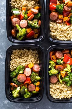 Quick Meal-prep sausage veggies and quinoa is healthy, flavor-packed and full of color and nutrition. January has officially begun and Meal-prepping seasoning