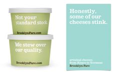 Brooklyn Fare's cheeky packaging from mucca