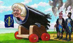 Steve Bell on Theresa May and the EU referendum – cartoon | Politics | The Guardian