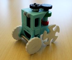 The GearBot is a simple, single actuator 3D printed toy with a transmission entirely made up of gear mechanisms. This bot includes a working clutch me...