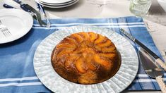 Upside-Down Peach Cornbread Cake Recipe | Kardea Brown | Food Network Holiday Recipes, Keto Recipes, Cake Recipes, Holiday Foods, Southern Desserts, Just Desserts, Cornbread Cake, My Favorite Food, Favorite Recipes