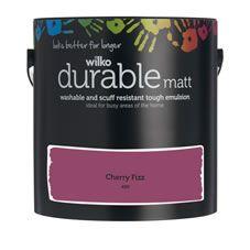 Wilko Durable Matt Emulsion Paint                 Cherry Fizz 2.5L