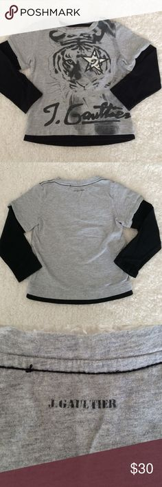 J. Gaultier boys long sleeve T-shirt 2t Super cool J. Gaultier Long sleeve T-shirt. Interior tag was removed but otherwise in excellent condition. Jean Paul Gaultier Tops Tees - Long Sleeve