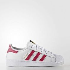 adidas-Superstar Foundation Shoes-Kids-Running White Ftw / Bold Pink / Running White Ftw-13K