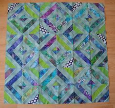 "SerendipitiJoy: Comfort Zones and Color Play. Make a ""Summer in the Park"" Quilt Using Jelly Rolls or strips. Summer In The Park, Jelly Rolls, Fabric Strips, Quilt Designs, Comfort Zone, Blue Backgrounds, Baby Quilts, Quilt Blocks, Sewing Ideas"