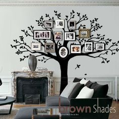 Family Tree  Wall Decal Tree Wall Decal by brownshades on Etsy, $149.00