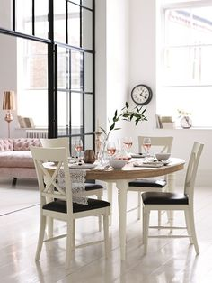 Buy the Greenwich Oval Extending Dining Table from Marks and Spencer's range. Extendable Dining Table, Glass Dining Table, Fine Dining, Table And Chairs, Dining Chairs, Table Runners, Dining Room, Home Board