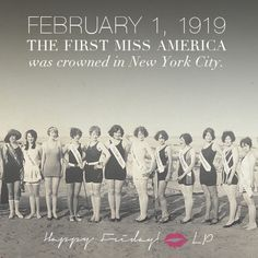 On February 1, 1919, the first Miss America was crowned in New York City  #lineapelle