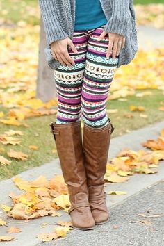 Multi Aztec Leggings