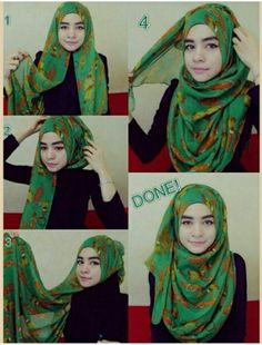 Hijab Tutorial – Full chest coverage