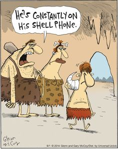 Cave man phone technology is not that far away from the devices we have now. #caveman #cellphone #funnycartoons #funnycomics
