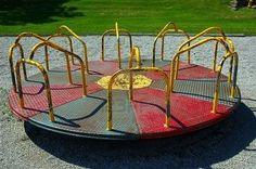 Playground merry-go-round... miss these!