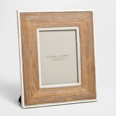 Wood Picture Frame with a Raised Design - Frames - Decor & pillows | Zara Home United States