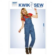 Kwik Sew Ladies Sewing Pattern 3897 Dungarees Overalls | Sewing | Patterns | Minerva Crafts