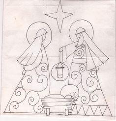 pesebre en puntos faroles - Buscar con Google Nativity Crafts, Christmas Nativity, Christmas Art, Xmas Ornaments, Christmas Decorations, Christian Artwork, Christmas Embroidery Patterns, Quilting, Christmas Templates