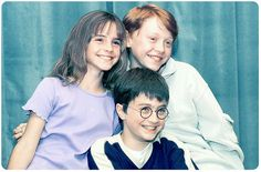 Emma Watson, Rupert Grint, and Daniel Radcliffe when they were young