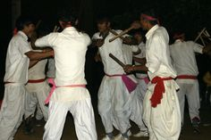 cultural dace at evening chitwan