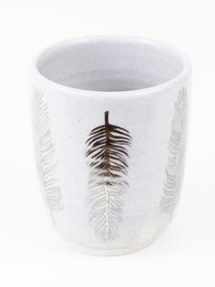 Large Feather Tumbler by Pickle Pottery $40