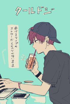 ギャップの激しさにトキメキが止まらない… Oc Manga, Manga Boy, Character Concept, Character Art, Character Design, Boy Illustration, Character Illustration, Hot Anime Boy, Anime Boys
