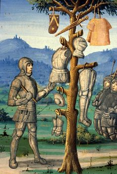 Aeneas erects a trophy with arms of Mezentius 1400