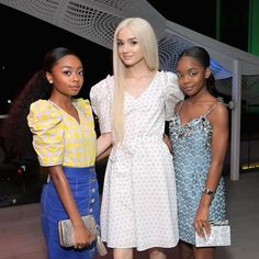 Skai Jackson, Poppy, and Marsai Martin attend the InStyle and Kate. Skai Jackson, Teen Fashion Outfits, Trendy Outfits, Young Celebrities, Celebs, Jackson Instagram, Kate Spade, Dance Moms Girls, The Jacksons