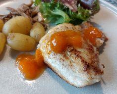 Abrikoschutney til fisk – Dalsgaard i Skivholme Chutney, Baked Potato, Potatoes, Baking, Breakfast, Ethnic Recipes, Morning Coffee, Potato, Bakken