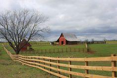 I love a red barn!
