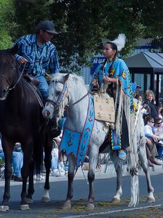 Members of the Cayuse Umatilla Nez Perce and Walla Walla tribes are joined by Native Americans from around the Pacific Northwest in the Pendleton Roundup (58) by mharrsch, via Flickr