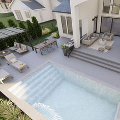 Here's one of the digital renderings created by @yardzen for my backyard transformation! Very exciting!! To see the rest of the plans in detail, watch my new YouTube video! Link in bio! Backyard, Patio, Very Excited, Video Link, My Dream Home, Raven, Rest, Girly, Houses