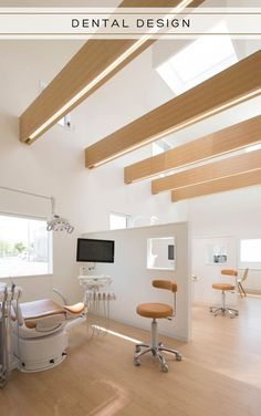 Image 7 of 23 from gallery of Yokoi Dental Clinic / iks design + msd-office. Photograph by Keisuke Nakagami Clinic Interior Design, Design Salon, Clinic Design, Design Design, Design Ideas, Dentist Clinic, Cabinet Medical, Dental Office Decor, Light Design