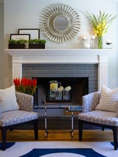 Add a Mirror  - 20 Mantel and Bookshelf Decorating Tips on HGTV