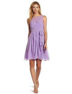 Purple dress perfect for wedding attendee or bridesmaid.