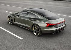 Audi will debut a new four-door electric coupe at the Los Angeles auto show this week. Check out pictures of the Audi e-tron GT concept right here! Porsche Electric Car, Electric Sports Car, Porsche Taycan, Maserati, Ferrari, Bugatti, Audi A5, Lamborghini Gallardo, Peugeot