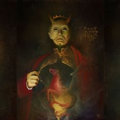 """Berith   MMXVII by Daniele Valeriani ~ """"A great duke of Hell governing 26 legions. He appears as a general dressed in red, riding a red horse and wears a crown on his head. He knows of past/present/future events, gives dignities, aids in singing ability, and is often known as the demon of the alchemists for his avidity to change metals into gold. - Naturally different from the well known engraving in Dictionnarie Infernal that absolutely doesn't give justice to this powerful and terrible…"""