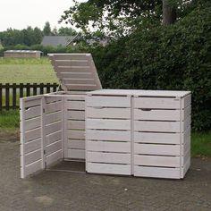 Mülltonnenbox Weiß Geölt                                                       …