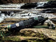 Perfect for a bug out bag or a simple hiking trip. These Life-straws Filter 200 gallons of H20 from fresh water rivers, creeks, rain puddles and more. 99.9% of all bacteria will be filtered out! Choose your 550 paracord Color. Built into the rapped paracord is 5x5 aluminum foil sheet for cooking and signaling. A compass, Zip ties, Ranger bands, a triple antibiotic ointment pack. one small blade and flint rod. Two fishing hooks and fishing line. One waterproof/windproof match.