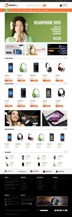 Ogence responsive Magento theme is especially designed for #digital, #electronics, accessories, pets, pet food #stores. #website