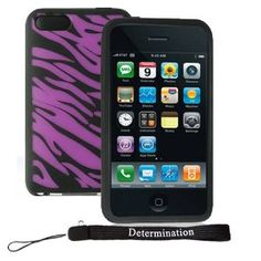 Apple iPod Touch 8GB 32GB 64GB 3rd Generation iTouch Zebra Skin Case Cover Protector Purple and Black Zebra + includes a 4-inch eBigvalue (TM) Determination Hand Strap. Top Quality, More Durable than our Competitors, Silicone Skin protector for your Apple iPod Touch 3rd Generation 8GB 32GB 64GB Compatible. Fits Perfect with no extra space or extra stretching necessary, fits just right for the Touch 3rd Generation. Openings for all plugs and connections. (30 Days Customer Satisfaction…