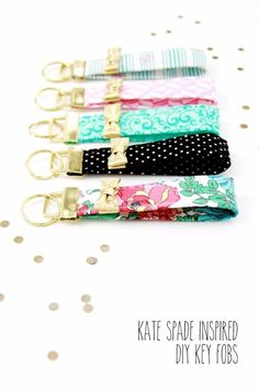DIY Sewing Gift Ideas for Adults and Kids, Teens, Women, Men and Baby - Kate Spade Inspired Key Fobs - Cute and Easy DIY Sewing Projects Make Awesome Presents for Mom, Dad, Husband, Boyfriend, Children http://diyjoy.com/diy-sewing-gift-ideas