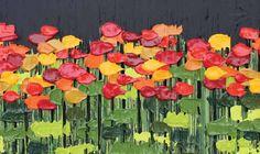 21 ans et malvoyant, il peint des oeuvres vendues à des milliers de dollars pour la charité
