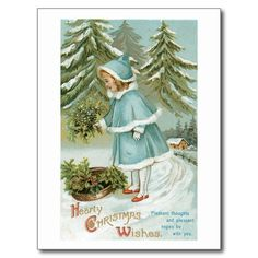 Shop Hearty Christmas Wishes Vintage Holiday Postcard created by scenesfromthepast. Vintage Holiday Postcards, Vintage Greeting Cards, Vintage Christmas Cards, Christmas Greeting Cards, Vintage Gifts, Holiday Cards, Christmas Postcards, Merry Christmas To All, Christmas Wishes