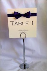 Cadbury Purple Classic table name card. Available in any colour to match the theme and style of your wedding.