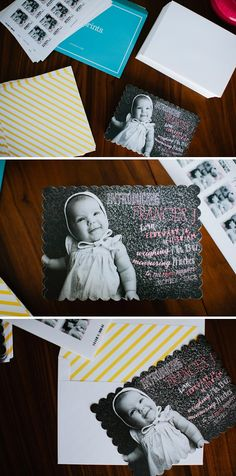 Lang Photographers: Francies Birth Announcement from Tiny Prints