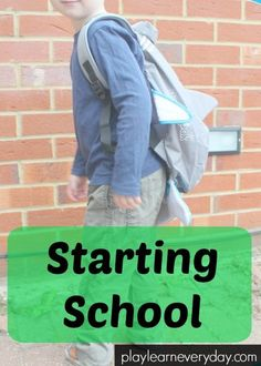 With the new school year fast approaching we're looking at all of the best ways for preparing children to start nursery, preschool and school.