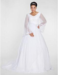 vestidos de novia con manga ancha