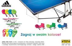 Bacha Sport - Pokaż swoje prawdziwe oblicze z adidas!Z Adidas możesz tworzyć swój (swojej drużyny) niepowtarzalny wizerunek zaczynając od stroju a kończąc na sprzęcie. Dopasuj do wybranego zestawu ubrań sprzęt tenisowy i akcesoria wybierając z oferty dostępnych już na polskim rynku najnowszych serii stołów, rakietek, piłeczek, pokrowców oraz toreb marki Adidas Table Tennis.